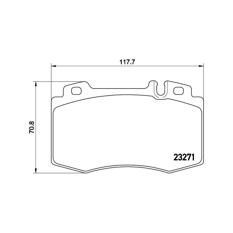 Bremsklötze für Mercedes S Klasse  M Klasse  SL  vorne 23271
