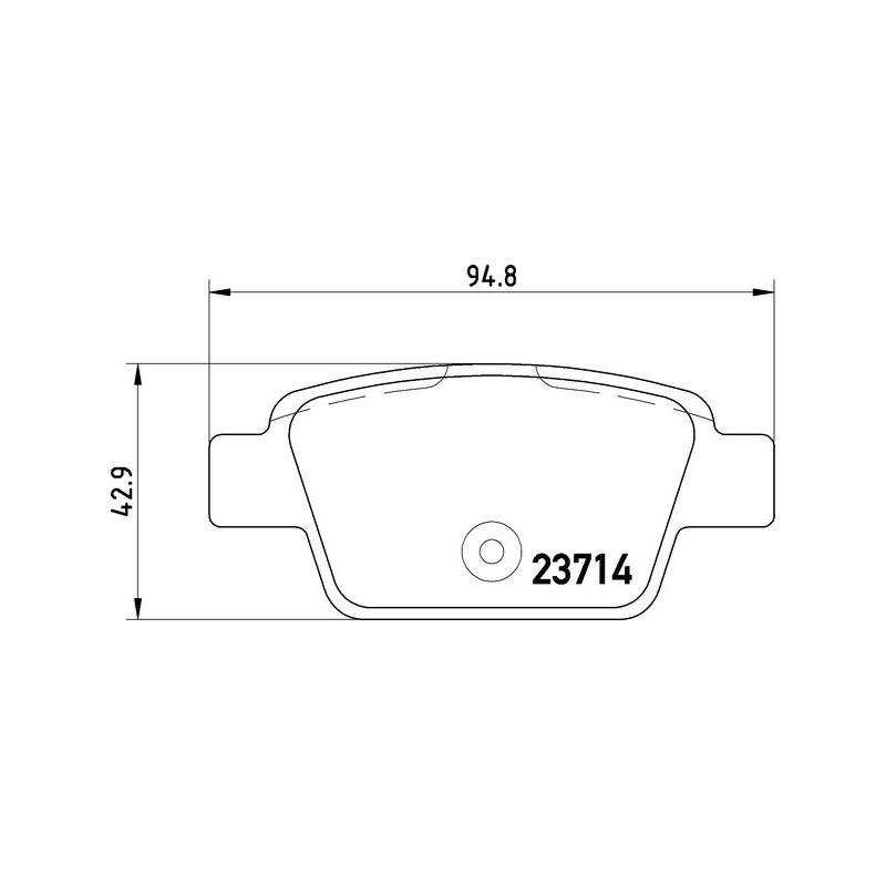 Bremsbeläge hinten Alfa Romeo Mito mit Bosch Bremse Textar Bremsscheiben