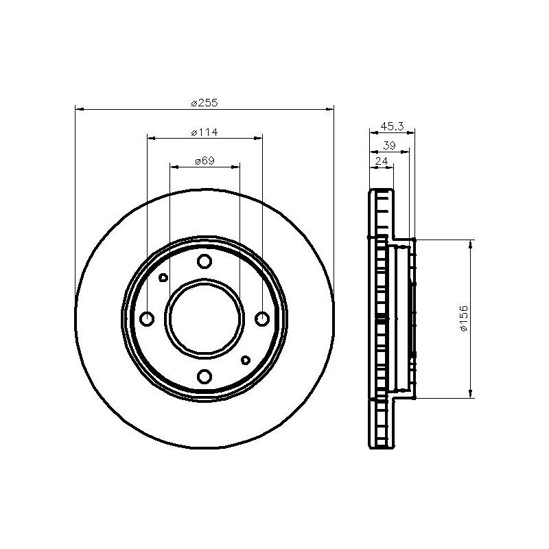 2x BREMSSCHEIBE Ø256mm BELÜFTET+BREMSBELÄGE VORNE MITSUBISHI CARISMA DA 1.8 1.9